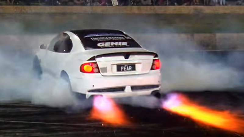 Fast Awd Cars >> FEAR Monaro Flame Thrower Burnout - fullBOOST